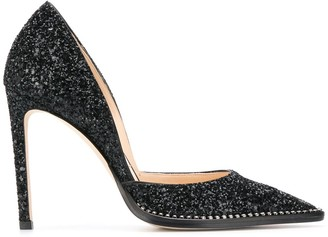 Jimmy Choo Babette glitter court shoes