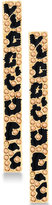 GUESS Gold-Tone Jet and Pavé Animal-Look Linear Drop Earrings