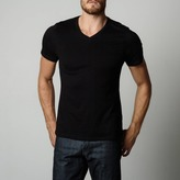 DSTLD V-Neck Tee in Charcoal