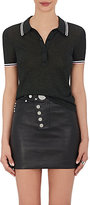 Alexander Wang Women's Tipped Metallic Polo Shirt