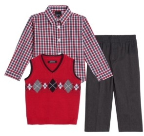 Tfw Little Boys Argyle 3 Piece Sweater Set