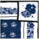 Kenzo spray paint effect multi logo scarf