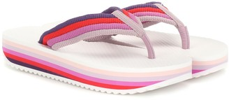 Zimmermann Rainbow platform thong sandals