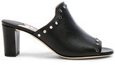 Jimmy Choo Leather Myla Mules with Studs in Black.