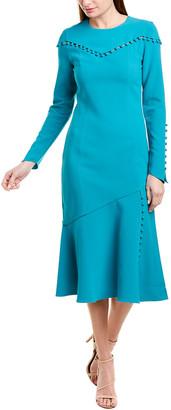 Prabal Gurung Mogu Wool & Silk-Blend Midi Dress