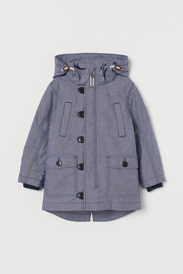 H&M Parka with Removable Lining - Blue