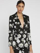 Alice + Olivia Macey Floral Printed Blazer