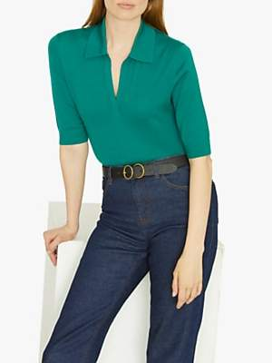 Jigsaw Fine Polo Neck Top