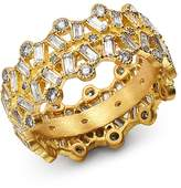 Armenta 18K Yellow Gold Sueno Champagne Diamond & White Sapphire Ring