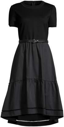 Elie Tahari Lenny High-Low Belted Midi Dress