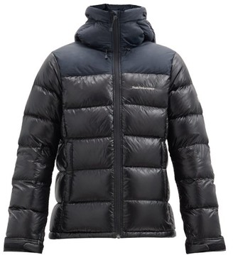 Peak Performance Frost Glacier Hooded Quilted Down Jacket - Black