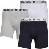 883 Police Mens Mano Three Pack Boxers Navy/White/Grey