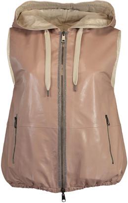 Brunello Cucinelli Reversible Drawstring Hooded Vest