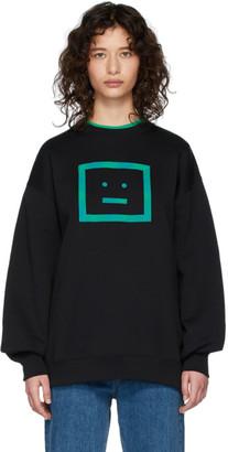 Acne Studios Black Check Face Sweatshirt