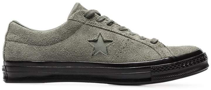 Converse green one star ox suede leather sneakers