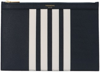 Thom Browne 4-Bar Detailed Clutch Bag