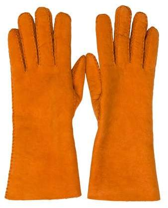 Hermes Wool-Lined Suede Gloves