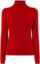 Karen Millen Fine Cable-knit Jumper - Red