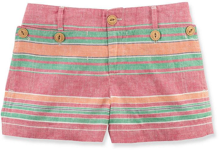 Ralph Lauren Shorts, Girls Nautical Striped Shorts