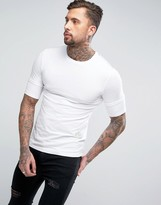 Religion Muscle Fit T-Shirt with Layered Arm Detail