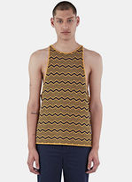 Men's Depara Zigzag Knit Vest Top In Yellow And Navy €370