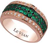 LeVian Le Vian 14K Rose Gold 0.77 Ct. Tw. Diamond & Emerald Ring