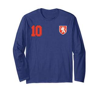 Netherlands or Holland Design in Football Soccer Style Long Sleeve T-Shirt