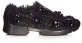 Simone Rocha Embellished low-top tweed trainers