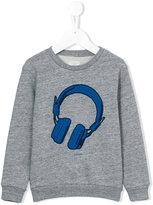 Paul Smith headphones print sweatshirt - kids - Cotton/Polyester - 8 yrs