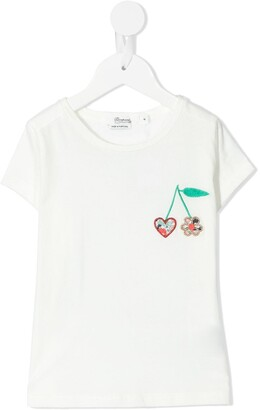 Bonpoint embroidered cherry T-shirt