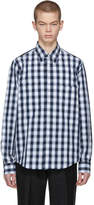 Acne Studios Navy and White Lincal Shirt