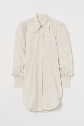 H&M Puff-sleeved shirt dress