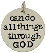 Sterling Silver 'Can Do All Things Through God' Charm