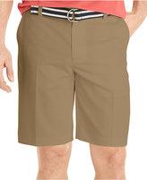 Izod Flat-Front Solid Microfiber Shorts