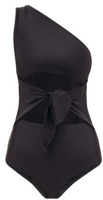 Adriana Degreas Asymmetric Knotted-waist Swimsuit - Black