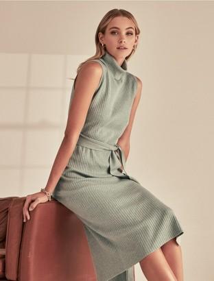 Forever New Emilia Roll-Neck Midi Knit Dress - Sage - 10