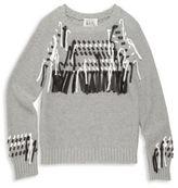 Autumn Cashmere Girl's Cotton Fringe Sweater