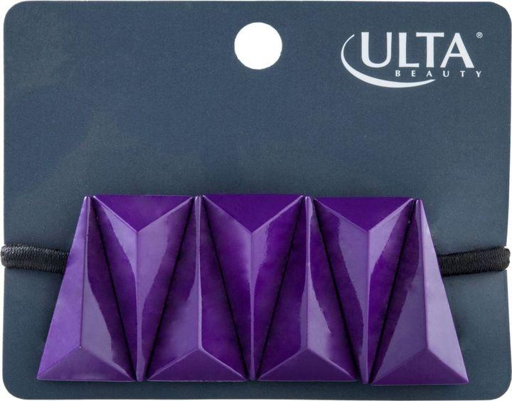 Ulta Purple Geometric Ponytail Holder