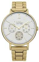 Fiorelli Women's Quartz Watch with White Dial Analogue Display and Gold Stainless Steel Bracelet FO002GM