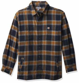 Carhartt Men's Rugged Flex Relaxed Fit Flannel Fleece-Lined Plaid Shirt