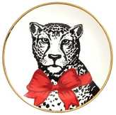 H&M Small Porcelain Plate - White/leopard