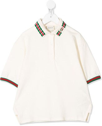Gucci Kids Web embroidered polo shirt