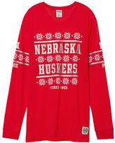 PINK University Of Nebraska Long Sleeve Campus Tee