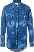 Saint Laurent two-tone denim shirt