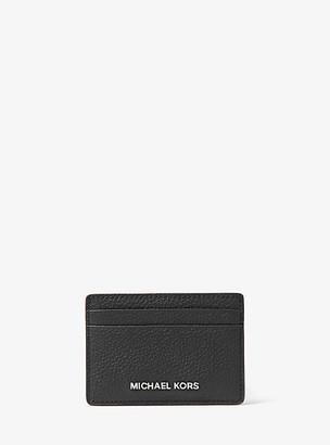 MICHAEL Michael Kors MK Pebbled Leather Card Case - Black - Michael Kors