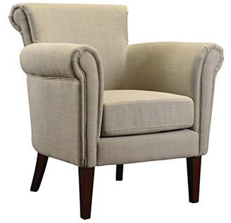French Heritage Odette Arm Chair with Ash Fabric