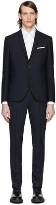 Neil Barrett Navy Fine Travel Suit