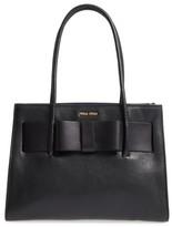 Miu Miu Leather Shopper - Black