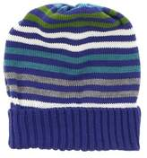 Missoni Blue Knitted Beanie Wool Blend Hat.