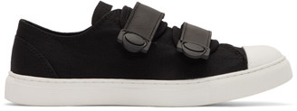 Yohji Yamamoto Regulation Black and White Strap Sneakers
